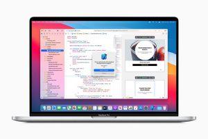 自社製シリコンを搭載したMacBook Proのイメージ