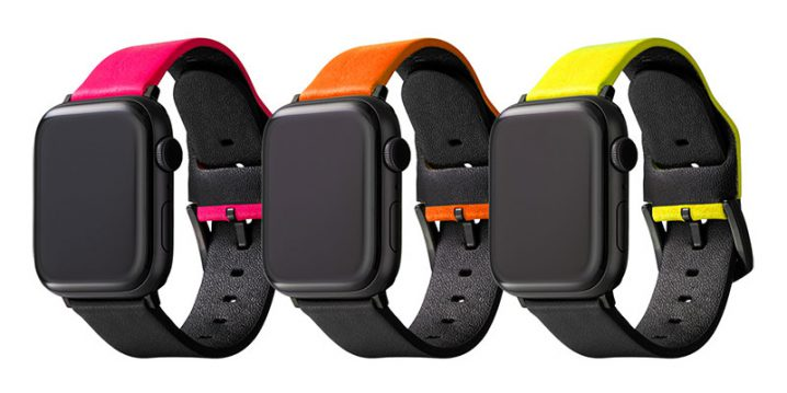 """GRAMAS """"NEON"""" Italian Genuine Leather Watch band for Apple Watch"""