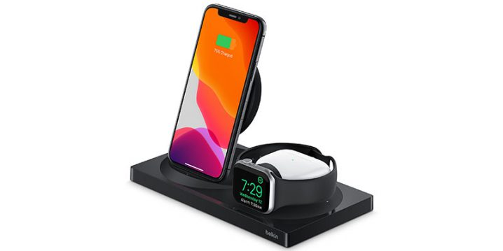 Belkin BOOST↑CHARGE 3-in-1 Wireless Charger for iPhone + Apple Watch + AirPods