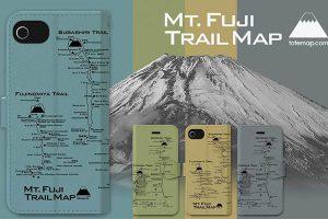 富士山トレイルマップ iPhoneケース