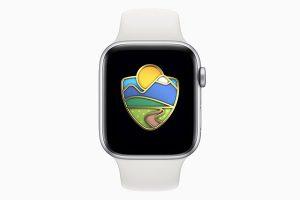 Apple Watch 国立公園チャレンジのバッジ
