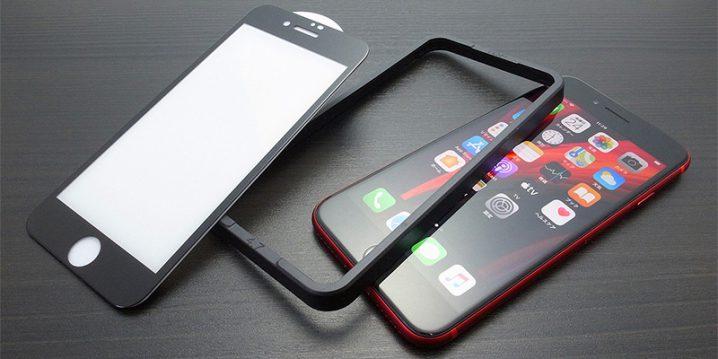 GAURUN iPhone SE(第2世代)用フルカバー ガラスフィルム(ガイドツール付き)