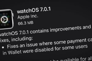 Apple Watch用「watchOS 7.0.1」ソフトウェア・アップデート