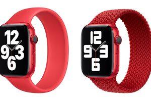 Apple Watch ソロループ・ブレイデッドソロループ バンド プロダクトレッド