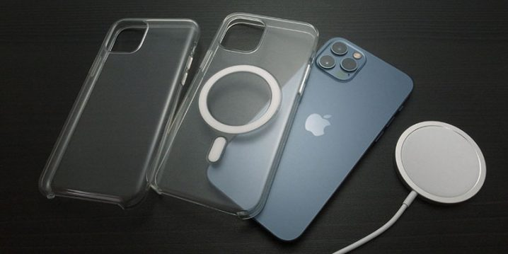 MagSafe充電器とiPhoneケース