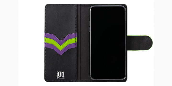 "GRAMAS × EVANGELION ""EveryCa3"" Leather Case for Smartphone L"