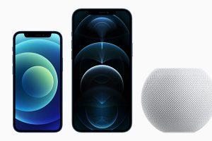 iPhone 12 miniとiPhone 12 Pro Max、HomePod mini