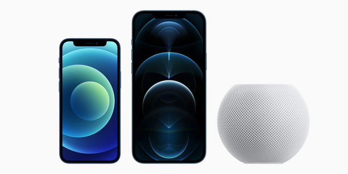 iPhone 12 miniとiPhone 12 Pro Max、HomePod mini