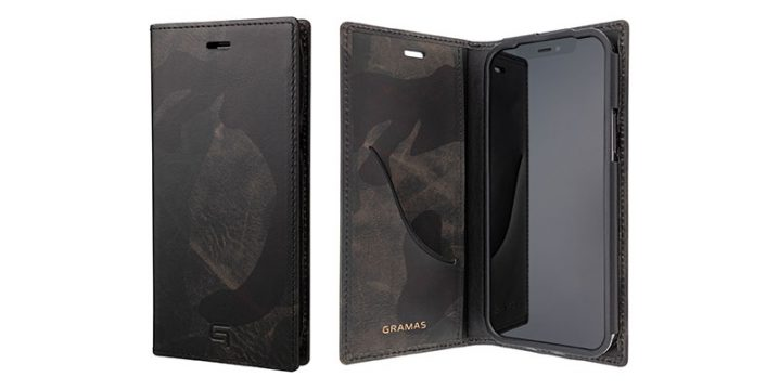 GRAMAS Desert Storm Genuine Leather Book Case for iPhone 12/12 Pro