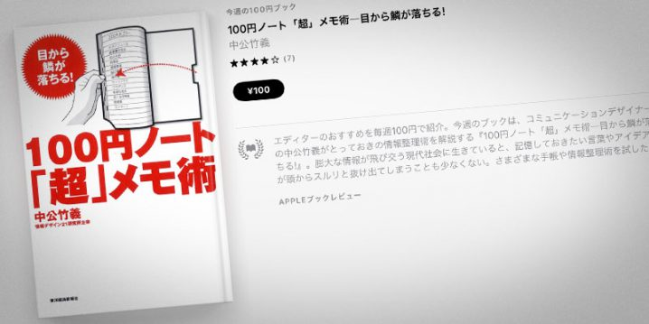 中公竹義『100円ノート「超」メモ術―目から鱗が落ちる!』