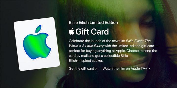 Apple Gift Card Billie Eilish Limited Edition