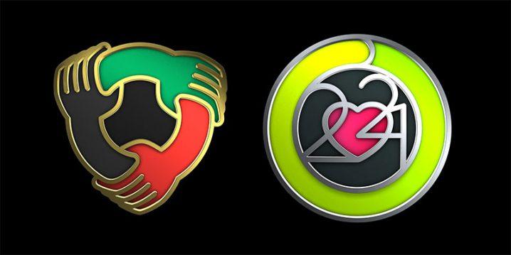 Apple Watchユニティチャレンジと心臓月間チャレンジのバッジ