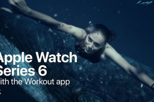 Apple Watch Series 6 with the Workout app