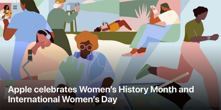 女性史月間と国際女性デーを祝うイメージイラスト