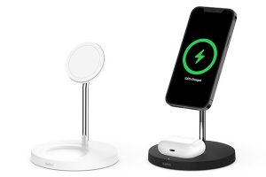 Belkin BOOST↑CHARGE PRO 2-in-1 Wireless Charger Stand with MagSafe