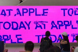 Today at Appleのビデオウォール画面