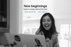 New beginnings. Behind the Mac