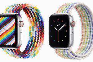 Apple Watch用バンド「プライドエディションブレイデッドソロループ」「プライドエディションNikeスポーツループ」