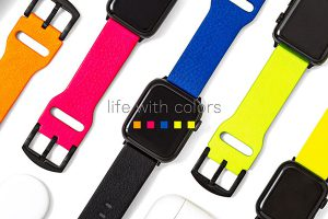 "GRAMAS ""NEON"" Italian Genuine Leather Watchband"