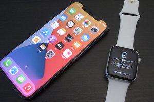 Apple Watchとロック解除されたiPhone