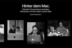 Hinter dem Mac
