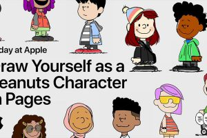 Today at Apple Draw Yourself as a Peanuts Character in Pages with a Snoopy Artist
