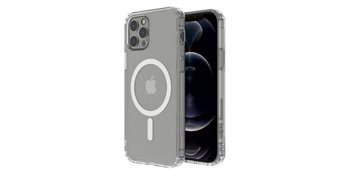 Belkin SHEERFORCE MagSafe対応抗菌クリアケース for iPhone 12