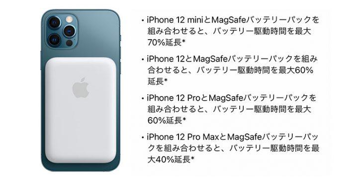 MagSafeバッテリーパックの充電性能