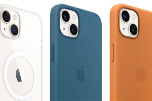 Apple純正のiPhone 13用クリアケースとシリコーンケース、レザーケース
