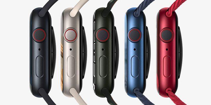 Apple Watch Series 7 アルミニウムケースのカラーバリエーション