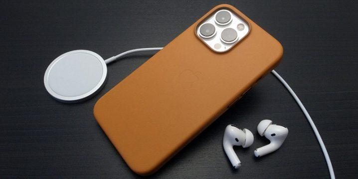 Apple純正 MagSafe対応iPhone 13 Proレザーケース