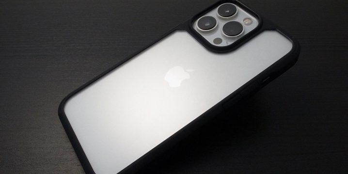 GAURUN iPhone 13 Pro用 ピュア・ハイブリッド Black Edition