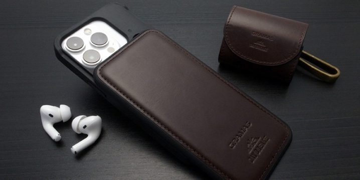 iPhone 13/13 Pro用ケース DAY BREAKE × GRAMAS Chromexcel Genuine Leather Full Cover Hybrid Shell Case